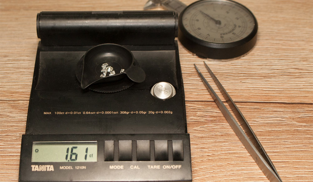 Kilataje peso piedras